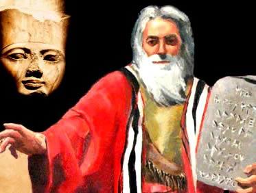 O faraó egípcio e o líder hebreu Moisés: dois exemplos de experiência política teocrática.