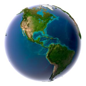 A maior parte do relevo do continente americano é de formação geológica antiga