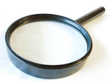 A lupa é um instrumento óptico de aumento