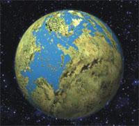 Terra, lugar onde abriga vida.