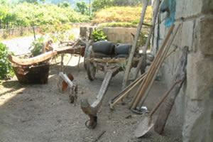 Instrumentos utilizados em pequenas propriedades rurais.