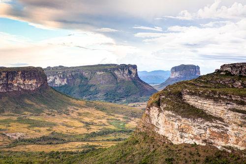 Chapada Diamantina, localizada em uma região de planalto no Nordeste brasileiro