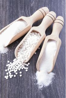 Aspartame entre sal e açúcar