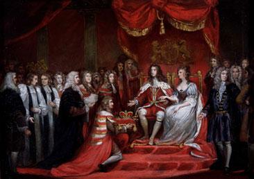 A coroação de Guilherme de Orange marcou o desfecho da Revolução Inglesa.