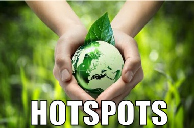 Os hotspots representam as áreas que mais necessitam de conservação do planeta
