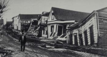 Terremoto na cidade chilena Valdivia, em 1960 (Grande Terremoto).