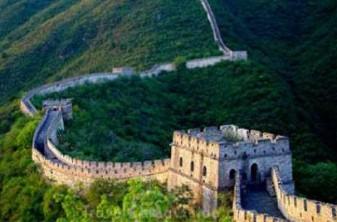 Pequeno trecho da Muralha da China.