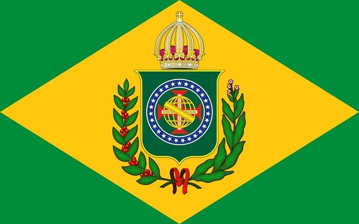 Bandeira imperial – O período do Brasil Império é um dos mais explorados em provas do Enem