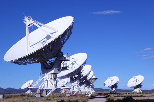 Radiotelescópios do Observatório Nacional do México