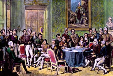 Congresso de Viena, reunião em prol da restauração das monarquias européias.