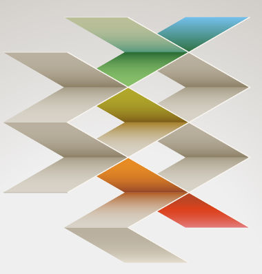 Figura formada por paralelogramos em perspectiva