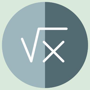 Raiz de x: Um radical cujo índice oculto é 2