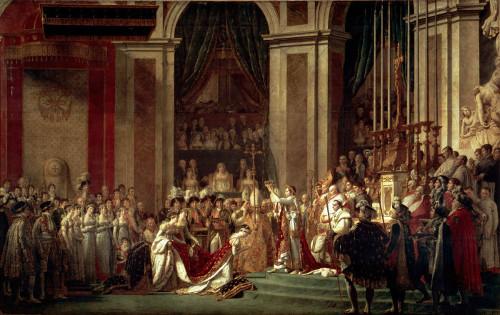 Consagração do Imperador Napoleão I e coroação da Imperatriz Josephine, de Jacques-Louis David (1748-1825)