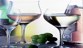 Taças de vidro cristal.