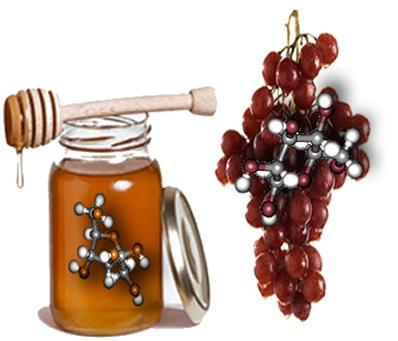 Embora tenham a mesma fórmula molecular e ambas sejam glicídios, a frutose e a glicose são oses de classes diferentes.