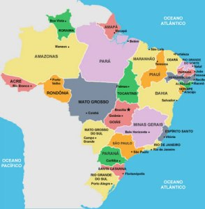 Mapa político atual.