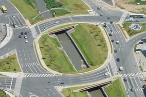 Uma boa infra-estrutura garante a circulação de bens e serviços.