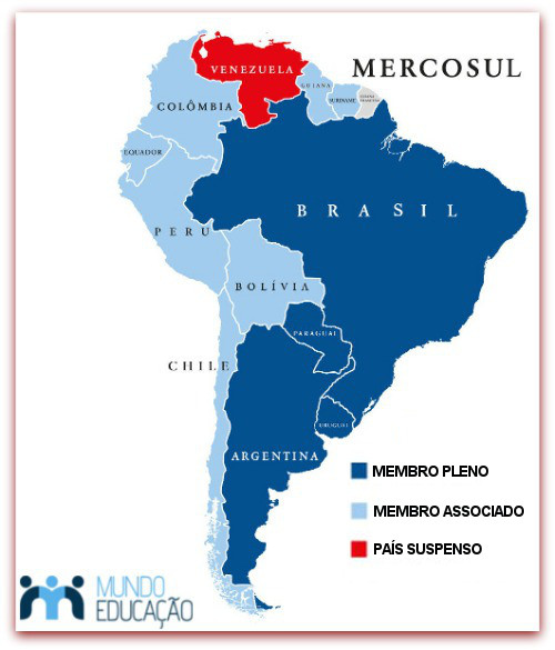 Em dezembro de 2016, a Venezuela foi suspensa de sua participação no bloco econômico do Mercosul
