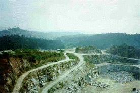 Uma jazida de minérios