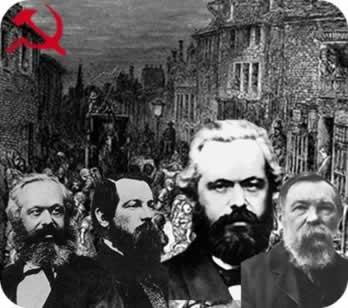 Socialistas científicos: Karl Marx e Friedrich Engels