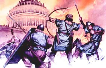 A invasão dos Hérulos decretou o fim do Império Romano, em 476.