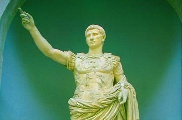Otávio Augusto, o primeiro dos imperadores romanos.
