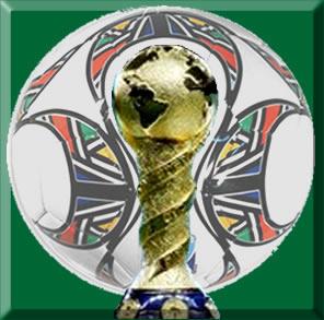 Bola oficial da copa das confederações 2009 e troféu para premiação