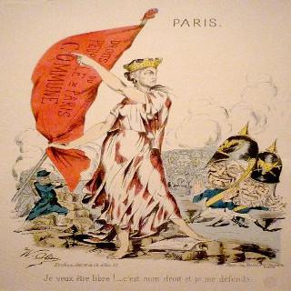 Gravura representando a Comuna de Paris, um dos eventos que marcaram a história da Associação Internacional dos Trabalhadores (AIT)