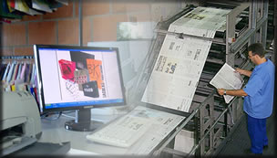 Processo de digitalização e impressão gráfica