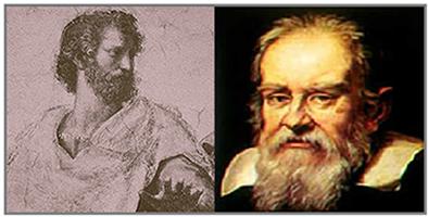 Newton, a partir das contribuições de Aristóteles e Galilei (na imagem), formulou a lei da inércia