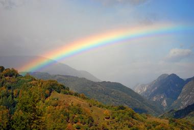 O arco íris: resultado da dispersão, refração e reflexão da luz