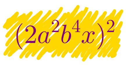 Há algumas dicas básicas para resolver potenciação de monômios