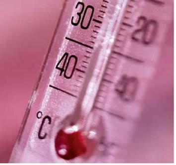 O termômetro é usado para medir a temperatura dos corpos.