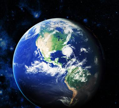 Imagem de satélite divulgada pela NASA com o perfil aparente da Terra