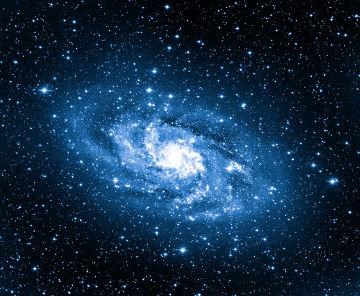 Representação da Via Láctea, que possui formato espiral