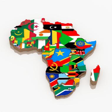O continente africano é o terceiro maior do mundo