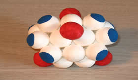 Modelo atômico de Rutherford.