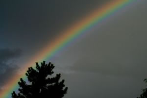 Aparição de um arco-íris