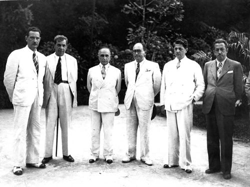 Filinto Müller, primeiro da esquerda para direita, foi o chefe de polícia de Vargas