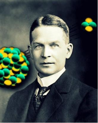 Frederic Soddy estudou as emissões alfa e criou a primeira lei da radioatividade, que leva seu nome