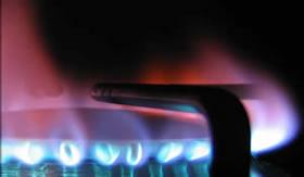 Chama produzida pela combustão completa.