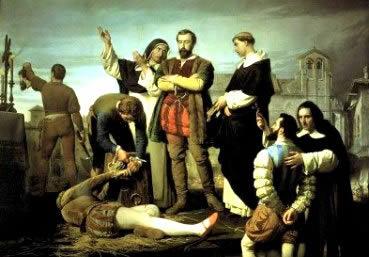 Quadro retratando a execução dos líderes do Movimento Comunero.