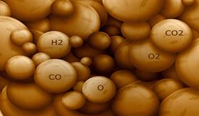 Gases se apresentam como moléculas ou átomos isolados.