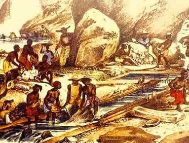 As limitadas técnicas de extração e a política colonial contribuíram para a crise da mineração.