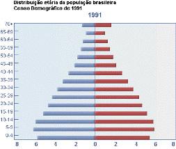 A pirâmide etária da população brasileira