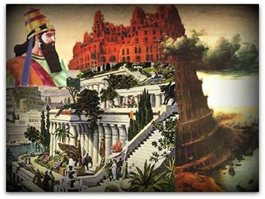 Nabucodonosor, principal rei do Segundo Império Babilônico, construiu a Torre de Babel e os Jardins Suspensos da Babilônia.