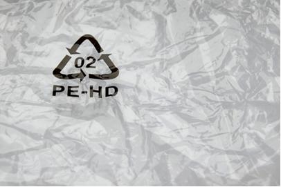 Símbolo de reciclagem do polietileno de alta densidade