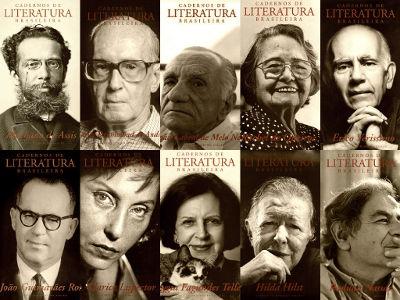 Principais escritores brasileiros que ilustraram a capa do periódico Cadernos de literatura brasileira, do Instituto Moreira Salles