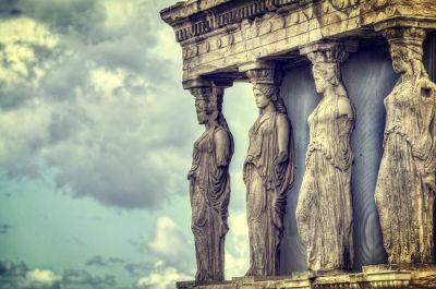 A civilização grega teve seu desenvolvimento entre 800 e 140 a.C.