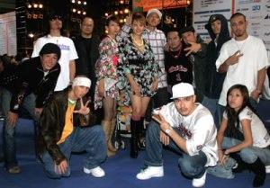 Grupo de Brasileiros (dekasseguis) no Japão.